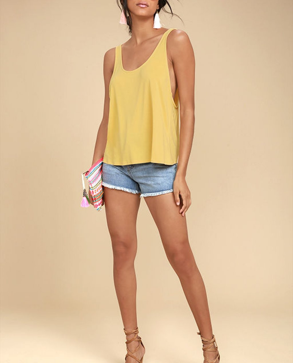 Finally the Weekend Yellow Tank Top