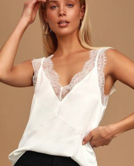 Forever Flirty White Lace Cami Top