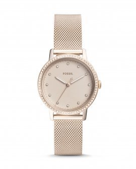 Neely Three Hand Paster Pink Stainless Steel Watch