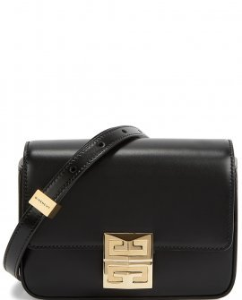 GIVENCHY 4G mini black leather cross-body bag
