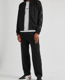 GIVENCHY Black logo-trimmed jersey track jacket