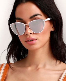 Garza White and Rose Gold Sunglasses