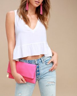 Get Up and Go Fuchsia Clutch
