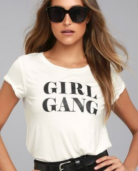 Girl Gang White Tee