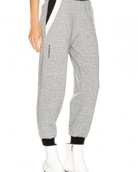 Givenchy Cropped Jogger Pant in Grey