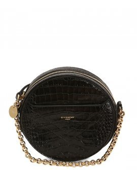Givenchy Round Eeden Croc Embossed Leather Bag