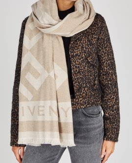 Givenchy Stone logo wool-blend scarf