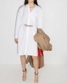 Givenchy chain-belt long-sleeve shirtdress