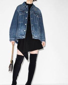 Givenchy chain-detail oversized denim jacket