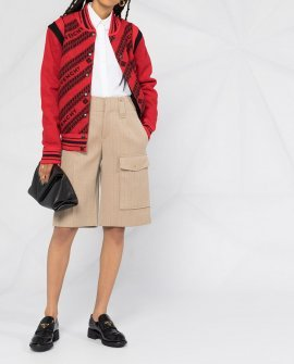 Givenchy logo-print wool bomber jacket