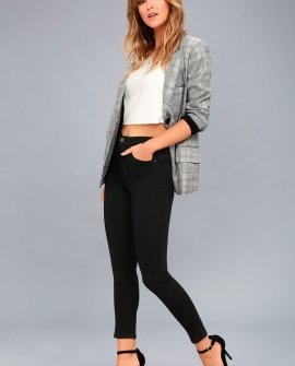 Go Getter Black High-Waisted Ankle Skinny Jeans