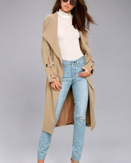Good Reputation Taupe Trench Coat