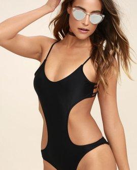 Good Tides Black One Piece Swimsuit
