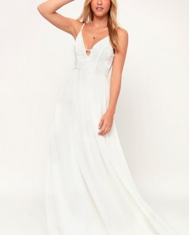 Graciella White Lace Maxi Dress