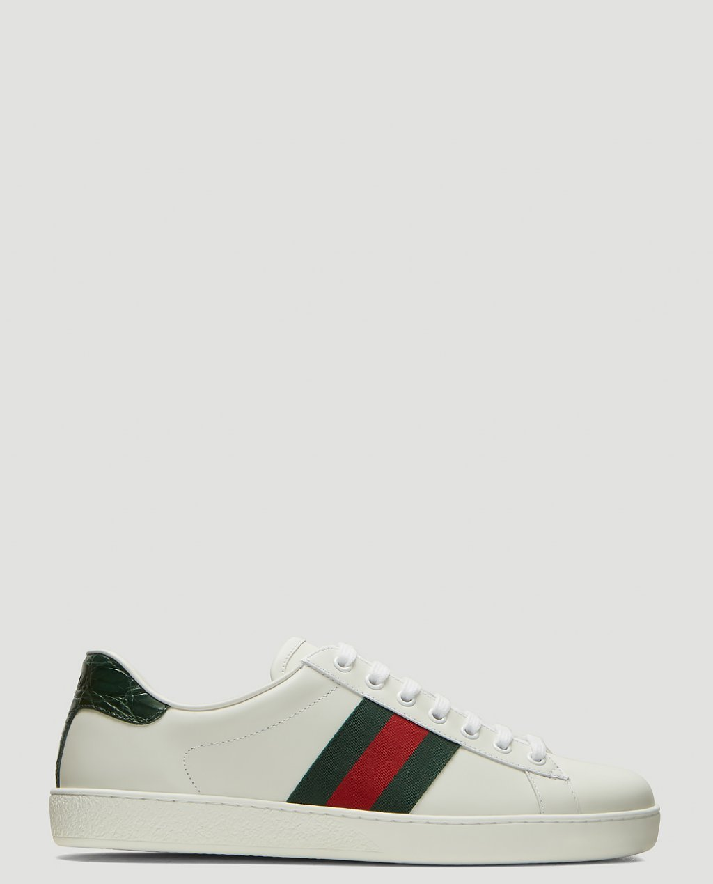 Gucci Ace Leather Sneakers in White