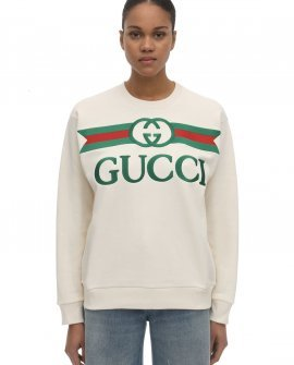 Gucci Embroidered Logo Crwneck Sweatshirt