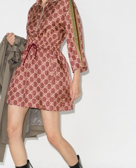 Gucci GG Supreme silk mini dress