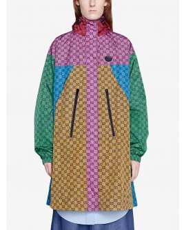 Gucci GG colour-block raincoat