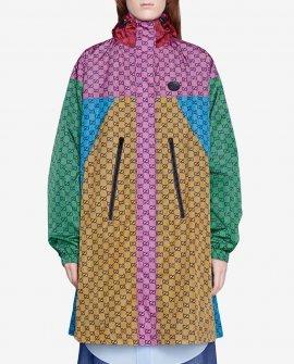 Gucci GG colour-block raincoat