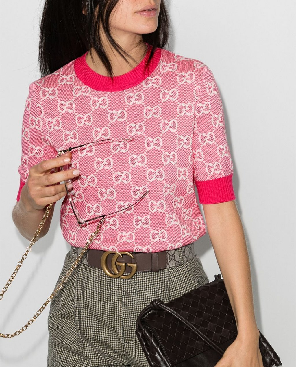 Gucci GG jacquard knitted top