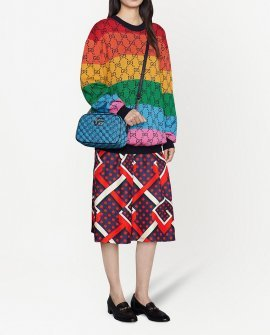 Gucci GG knitted colour-block jumper