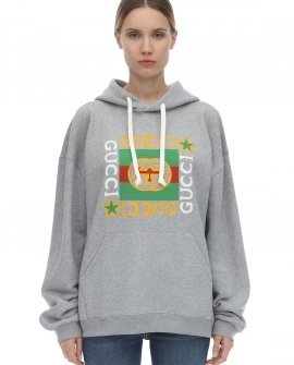 Gucci Gucci Star Print Cotton Jersey Hoodie