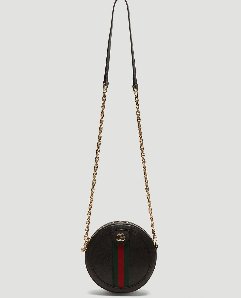 Gucci Ophidia Round Crossbody Bag in Black