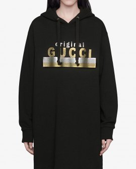 "Gucci ""Original Gucci"" print hooded dress"