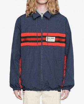 Gucci logo-appliqued hooded windbreaker