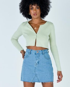 Hallie Denim Mini Skirt