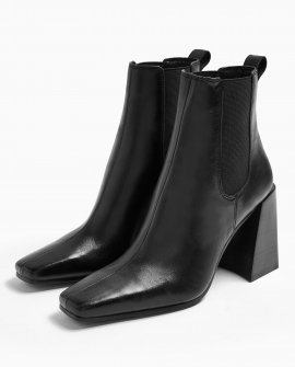Harbour Leather Black Chelsea Boots