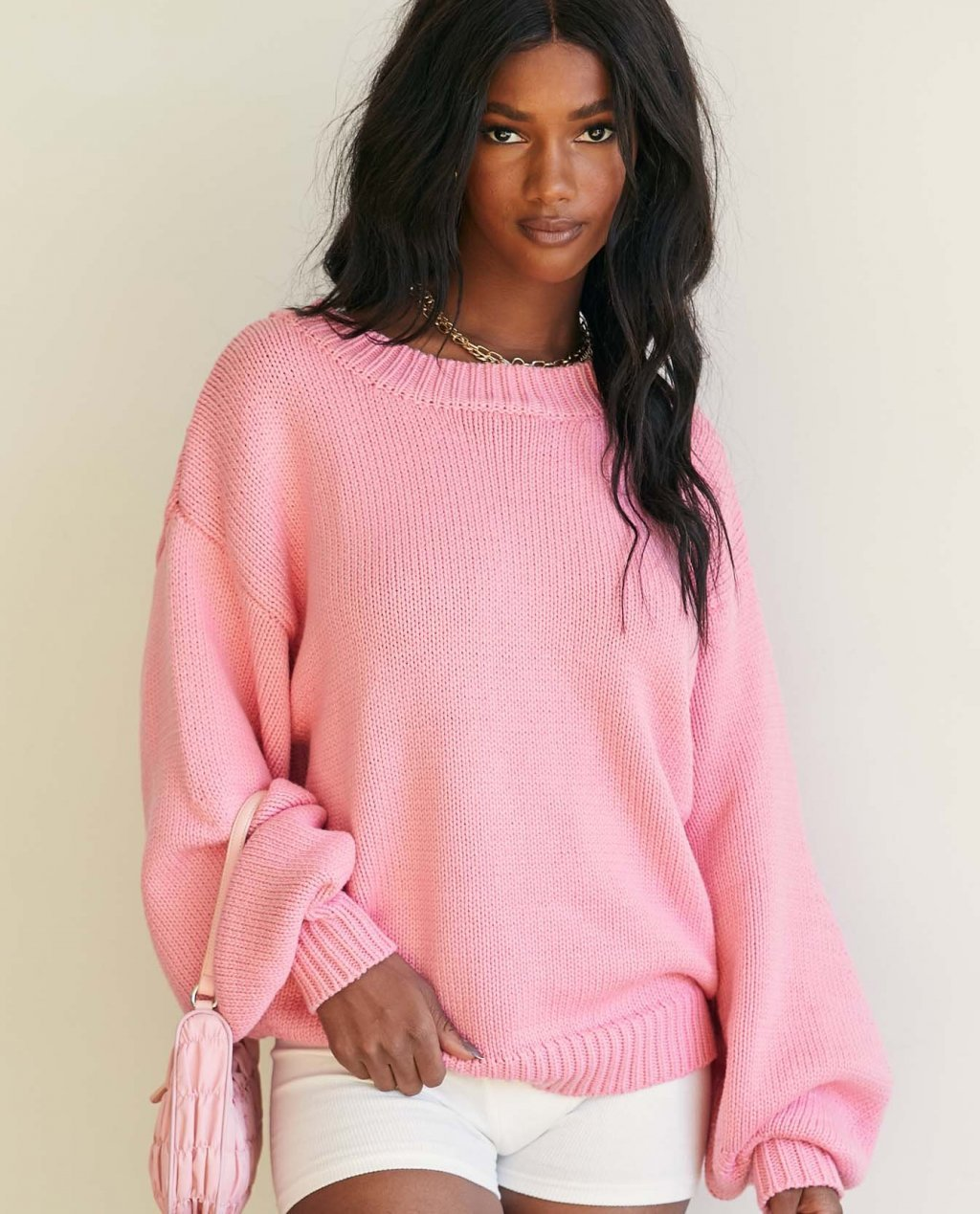 Harmony Pink Knit Sweater