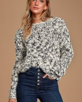 Harris Black and White Chunky Knit Sweater