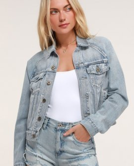 Hayden Light Wash Oversized Denim Jacket