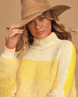 Heading Out West Camel Suede Fedora Hat
