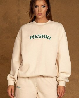 Heather Crew Neck Oversized Sweater