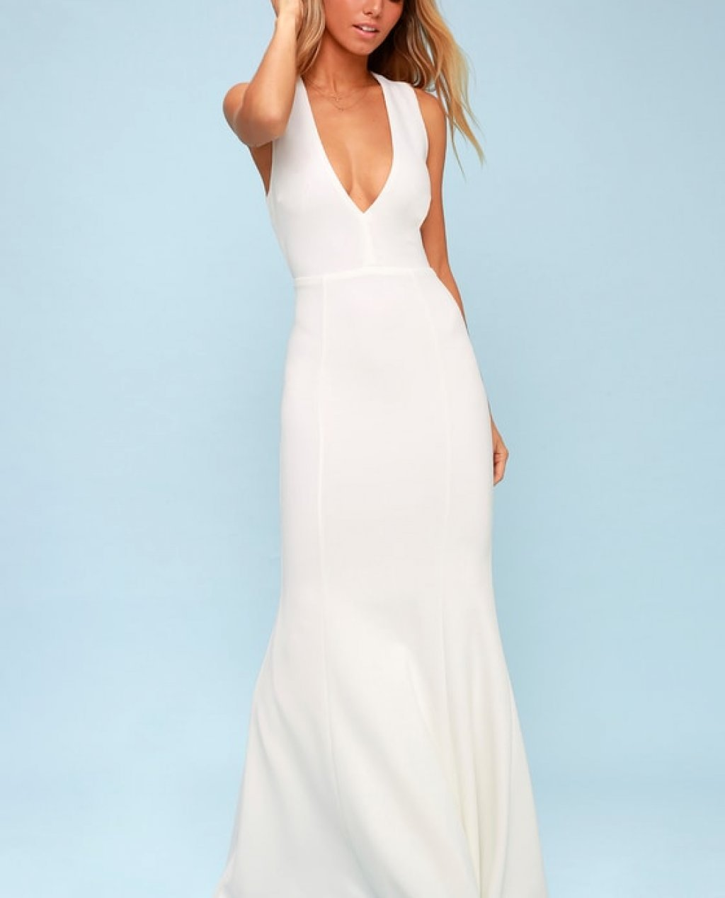 Heaven and Earth White Maxi Dress