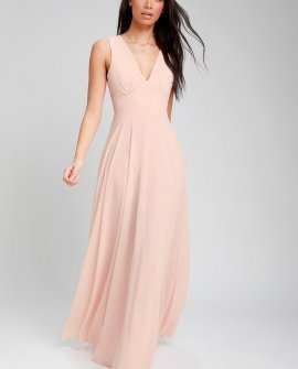 Here for Love Blush Sleeveless Maxi Dress