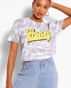 Honey Slogan Tie Dye T-Shirt