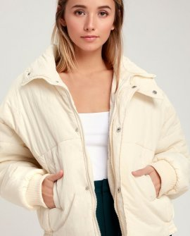 Horizon Cream Puffer Jacket