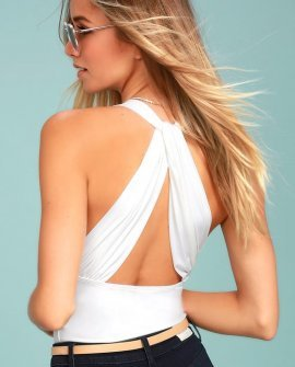 Hot-Cha-Cha White Bodysuit
