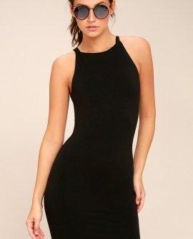 I Bet Black Bodycon Dress