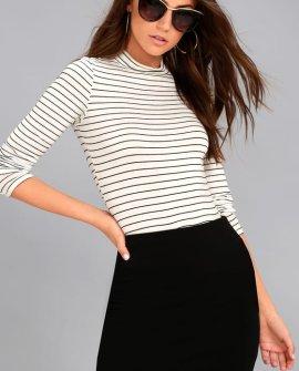 I Love It Black Mini Skirt