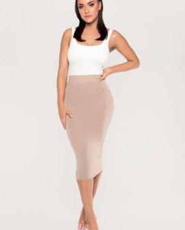 Iliana Shimmer Ribbed Midi Skirt
