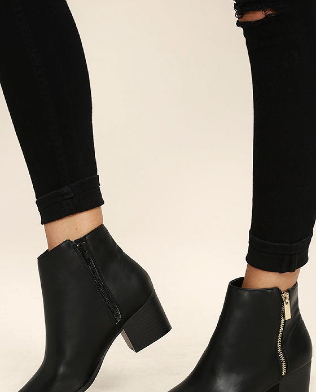 Illusion Black Pointed Ankle Booties