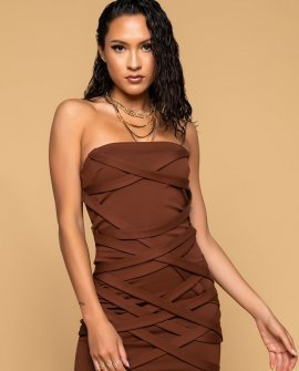 In It To Win Strappy Mini Tube Dress