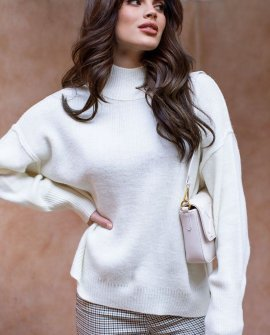 In Your Arms Ivory Mock Neck Knit Sweater