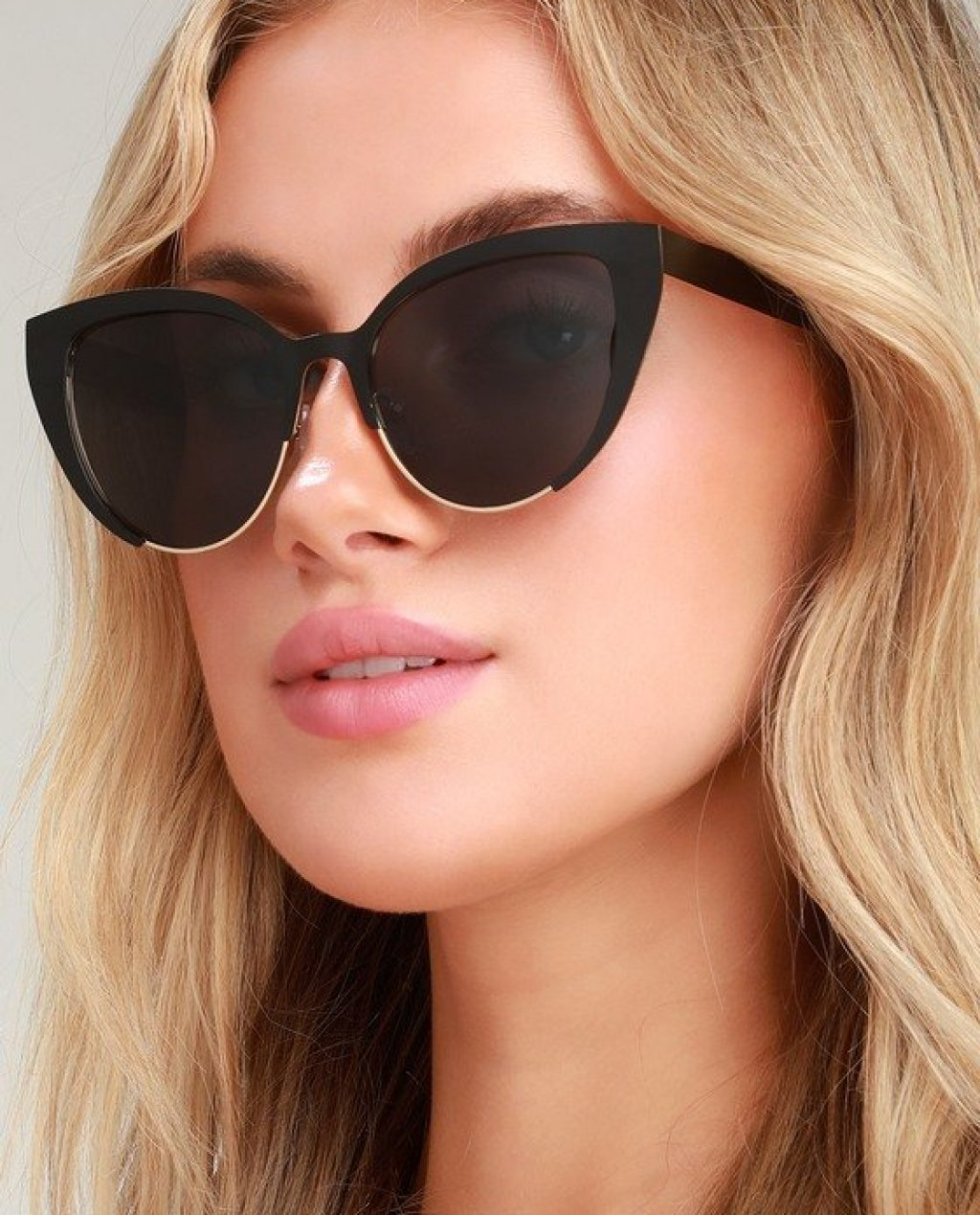 Insatiable Black Cat-Eye Sunglasses