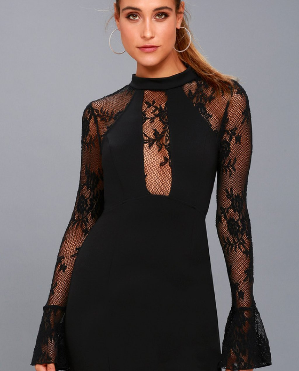 Its Now or Never Black Lace Bodycon Dress