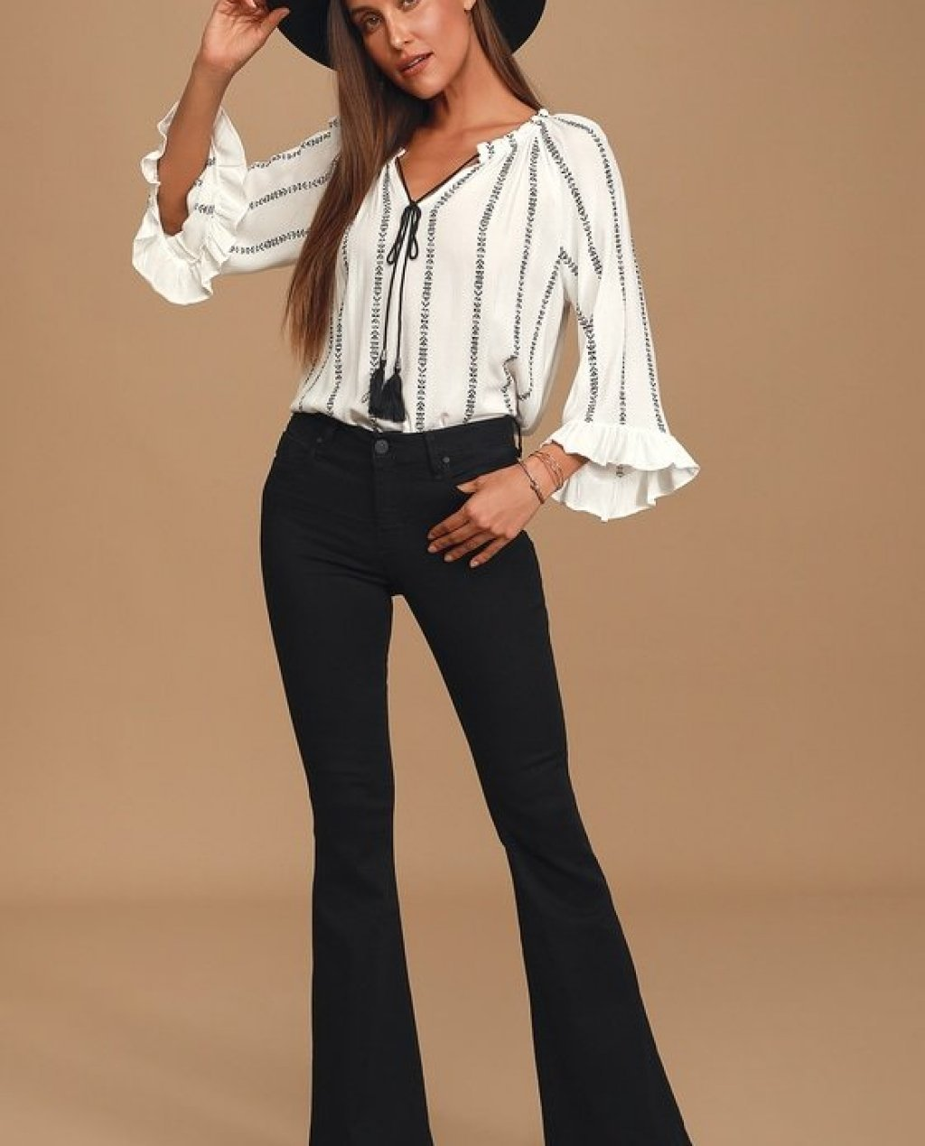 Janet Black High-Rise Flare Jeans